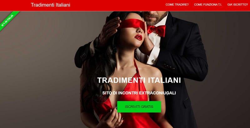 Home page del sito Tradimenti Italiani